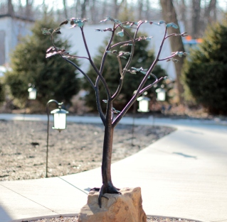 Copper and Stainless steel tree is a Fountain